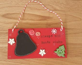 Christmas countdown plaque board