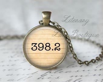 Fairy Tales '398.2' Dewey Decimal, Library Books, Reading Necklace or Keyring, Keychain.