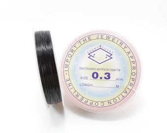 25 meters of black 0.3 mm copper wire