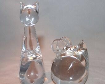 Cat & Mouse decorative glass knick knacks