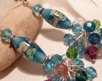 Earrings - Turquoise cluster