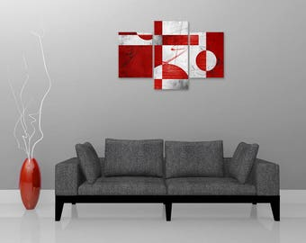 Painting triptych triptych abstract design, digital art, abstract painting, digital painting