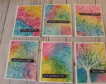 Fun Rainbow Greeting Card set