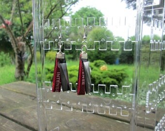 earrings of recycled art