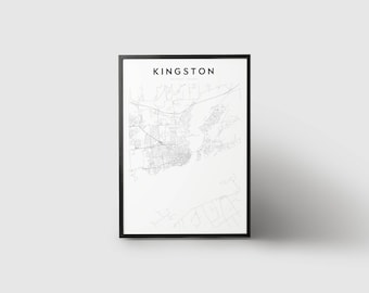Kingston Map Print