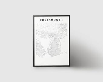 Portsmouth Map Print