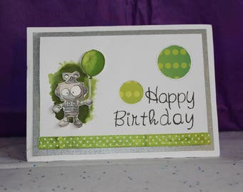 simple robot for a birthday card