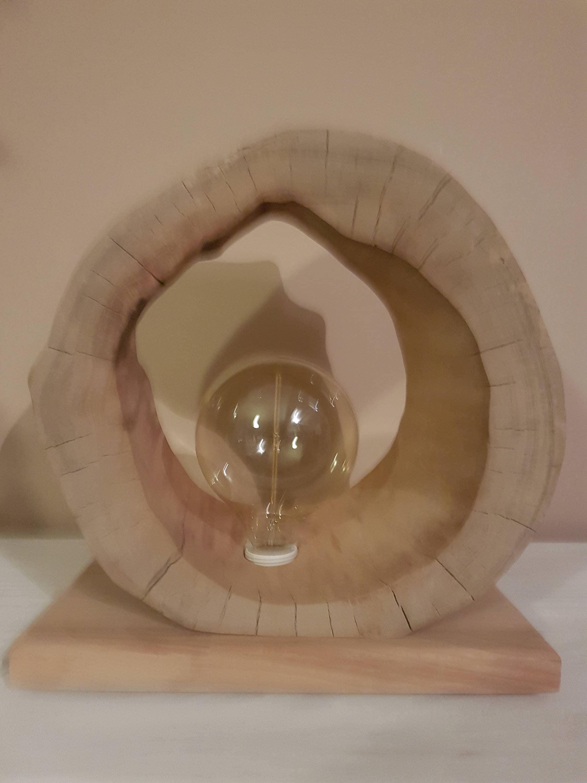 lampe en bois flott cr ation artisanale. Black Bedroom Furniture Sets. Home Design Ideas