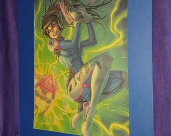 Overwatch D.VA mounted poster