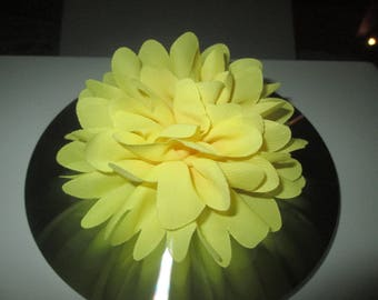 Yellow Fleur, Hairclip, brooch ceremonial hair clip, wedding, children...