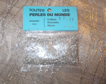 seed beads white tube (24)