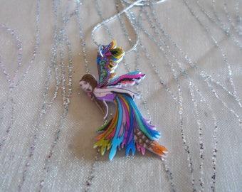 """Elf"" colorful multicolor original pendant"