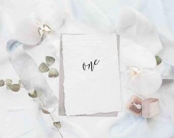 "Wedding Table Number 1-40, 5""x7"", Printable Art, Instant Download, Handwriting, digital print"