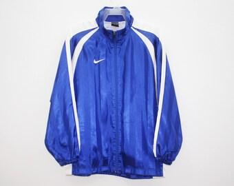 Nike Blue Polyester Windbreaker Size M