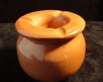 French terracotta Brown ashtray
