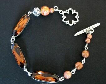 Brown Swarovski Crystal bracelet