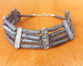 Hand made uniqe indian bone choker vintage 1990's private collection