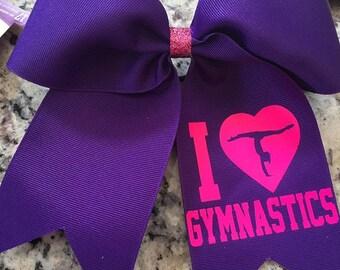 Gymnastics bow - Gymnastics gift - Gymnast bow - Gymnastics - Gymnastics girls bow - Gymnastics Christmas gift