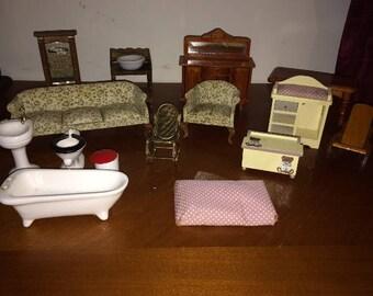 Doll ~ Vintage Miniature Furniture Lot