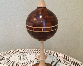 Turned wood finial decorative segmented woodtuning