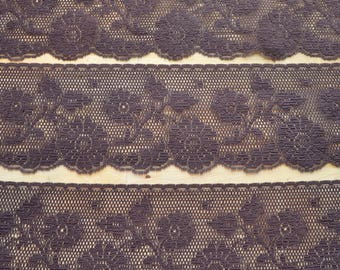 5 Yards of Brown Raschel Lace Trim Cut to Order