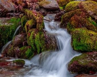 Digital Download Photograph, Falls Creek Water Fall