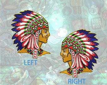 Chief Patch Indian Patch Iron on Patch Sew On Patches back patch