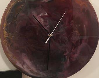 Resin art - 20cm Clock