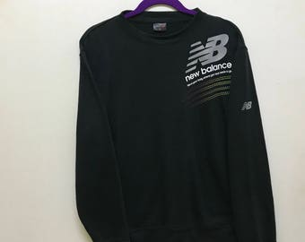 Nice!!! New Balance Sweatshirt Pullover Spellout Small Logo