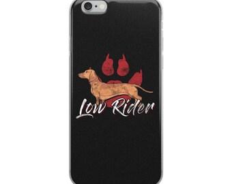 Dachshund iPhone Case - Low Rider Dachshund Dog Phone Case - Dachshund Gifts - Wiener Dog Gift - Funny Dog Phone Case