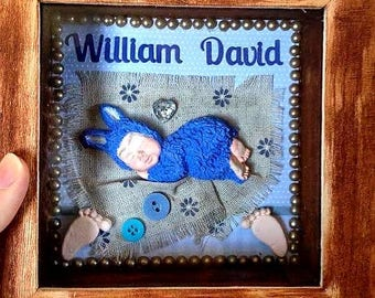 Personalised 'New Baby'  gift frames