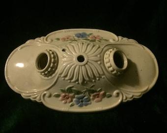 1930's Ceramic Light Fixture