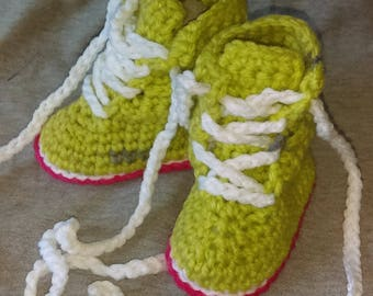 Hiking boot style  baby Booties