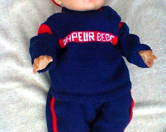 Firefighter 3 month baby outfit