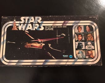Vintage 1977 original Star Wars Escape from the Death Star board game.