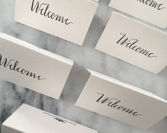 Welcome Card Calligraphy for Guests Businesses Hospitality