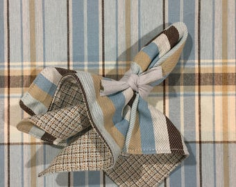 Cloth Napkins | Reversible Napkins | Lined Napkins | Blue Napkins