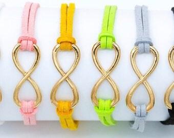 Leather infinity love bracelet