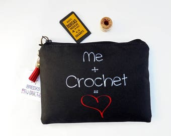Mum gifts, Canvas Pouch, crochet,sewing pouch,crafters gift,art gift,student gift,coin purse,artist bag,