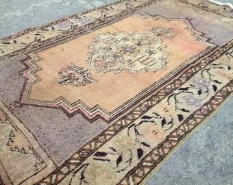 Turkish rug, Vintage rug, Handmade rug, Muted rug, Area rug, Wool rug, Bohemian rug, Rug, FREE SHİPPİNG !! 142 cm x 83 cm = 4,6 ft x 2,7 ft