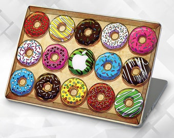 Case with painted the Colored Donut Macbook Air 13 Macbook Pro 13 Case Macbook Air 11 Case Macbook Air Macbook Air Case Macbook Case