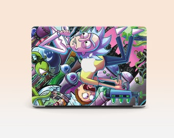 MacBook Pro 13 Case MacBook Touch bar Macbook Air 13  Case Geek Macbook Case MacBook 13 Rick and Morty Laptop Cover Christmas Gift
