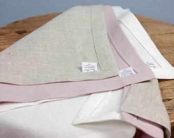 Linen Tea Towels. 16 Colors. Handmade Tea Towel. Washed European Linen.  Kitchen