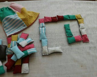 Dominoes fabric bag with padded 28 pieces