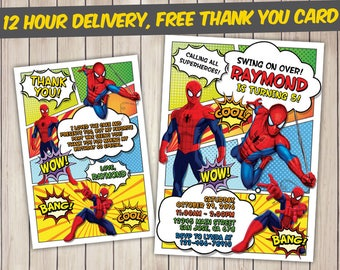 Spiderman Invitation, Spiderman Birthday, Spiderman Birthday Invitation, Spiderman Party, Spiderman Invite, Spiderman Printable