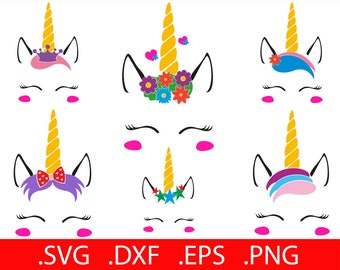 Flower Unicorn SVG Files Unicorn SVG Unicorn Face SVG Unicorn Head Svg Unicorn Horn Svg Unicorn Clipart Unicorn Svg Cut File for Cricut