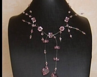 "Swarovski Crystal Rose ""Frou Frou"" necklace"