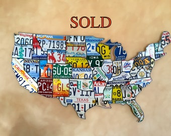 License Plate Map : Geography Map Art