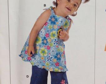 Burda 9708 Sewing Pattern, Toddler Dress, Toddler Pants, Size 6 mos - 3, OOP