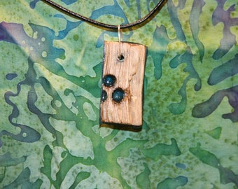 Wood and Resin Pendant *no chain included*